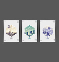 template design layoutbrochure design vector image vector image