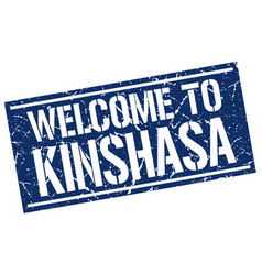 welcome to kinshasa stamp vector image vector image