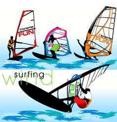 windsurf set vector image