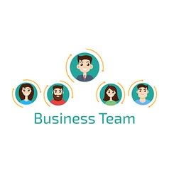 Avatar business team vector image