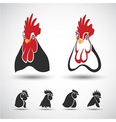 Chicken head vector image vector image