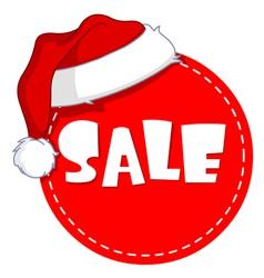christmas sale tag vector image