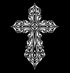 Gothic cross vector