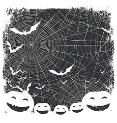 Halloween border for design Bats silhouettes and vector image vector image