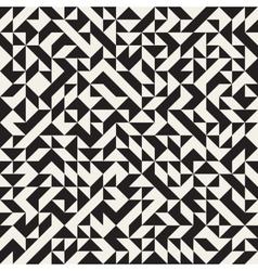 Seamless Jumble Triangles Geometric Pattern vector image