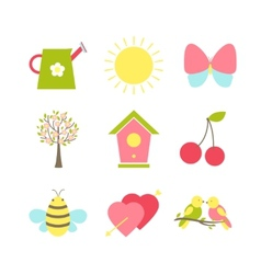 Set of spring icons vector image