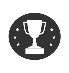 Trophy cup with stars icon 2 vector image vector image