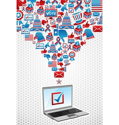 USA elections electronic voting vector image