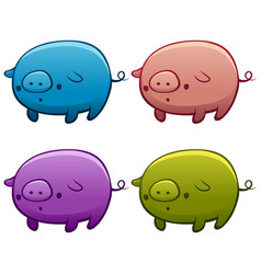 colourful assorted piggies vector image vector image