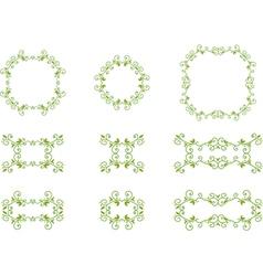 green floral frames vector image vector image