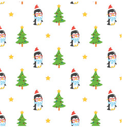 set of cute penguins vector image