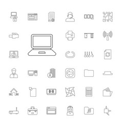 33 computer icons vector