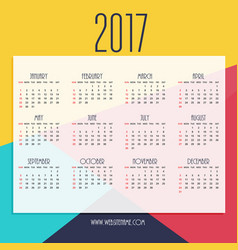 Abstract 2017 new year calendar design with vector