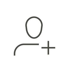 add user icon line friendship symbol vector image