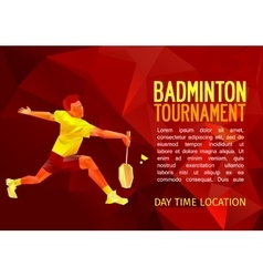 Badminton player with empty vector image