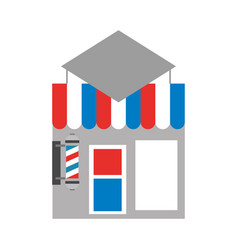 Barbershop building front icon vector