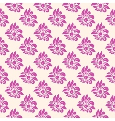 Big flowers seamless background vector
