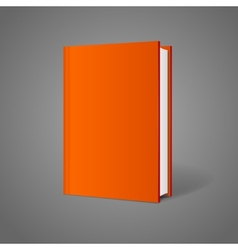 Blank book cover perspective orange vector