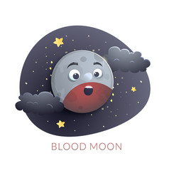 blood moon concept design lunar eclipse vector image
