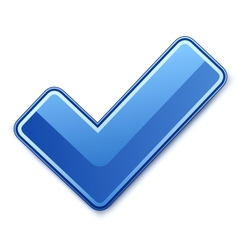 Blue check mark vector