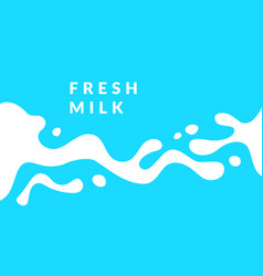 bright poster fresh milk with splashes on a light vector image