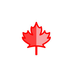 canadian red maple leaf logo designs inspiration vector image