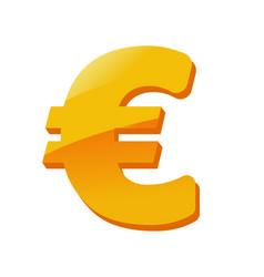 cartoon euro money currency golden sign vector image