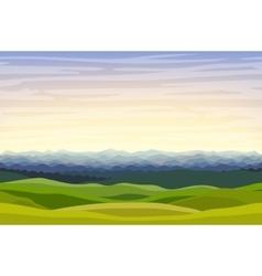 Cartoon horizontal landscape background vector image