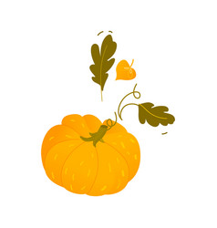 Cartoon pumpkin halloween thanksgiving symbol vector