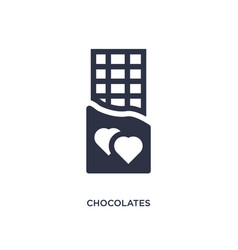 Chocolates icon on white background simple vector