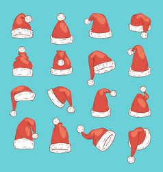 Christmas santa claus red hat noel isolated vector