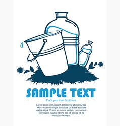 Clean water vector