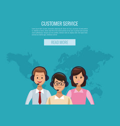 customer service banner vector image