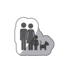 Cute family pictogram vector