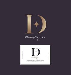 D letter diamond monogram business card vector