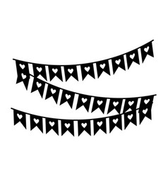decorative pennants carnival festival isolated vector image