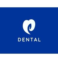 Dentist logo design template Tooth creative vector image