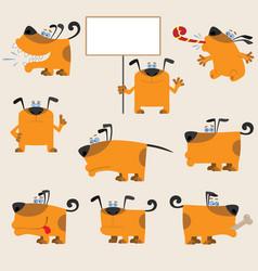 Dog set3 vector image