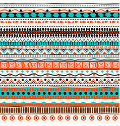 Ethnic seamless pattern hand drawn tribal vector