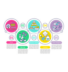 Family activities with kids infographic template vector