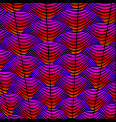 feather styled background with curved lines styled vector image