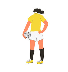 Female soccers flat player woman athlete vector