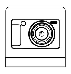 figure digital professional camera icon vector image