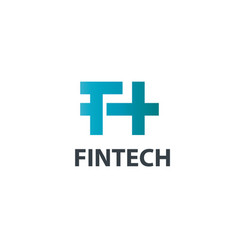 Fintech design logo tech icon or symbols vector