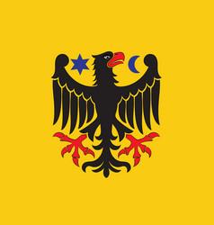 flag of orebro city in orebro county of sweden vector image