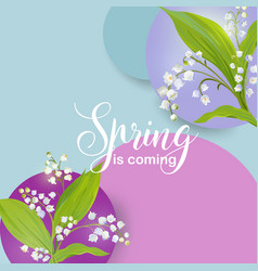 Floral spring design template for card sale banner vector