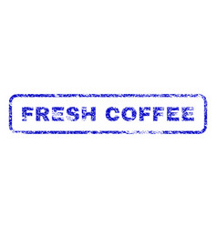 fresh coffee rubber stamp vector image