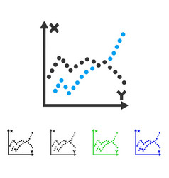 Functions plot flat icon vector