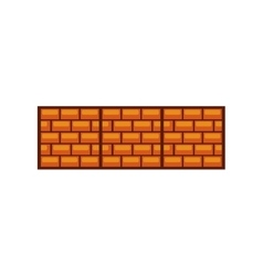Game bricks pixelated icon vector
