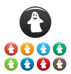 ghost icon simple style vector image